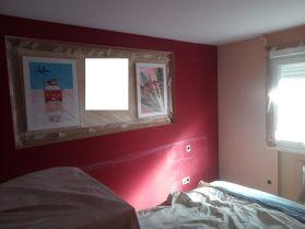 Dormitorio Antes Rojo y Crema (1)