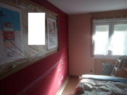 Dormitorio Antes Rojo y Crema (5)
