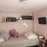 Habitacion Papel pintado labrillo y plastico sideral color rosa (7)