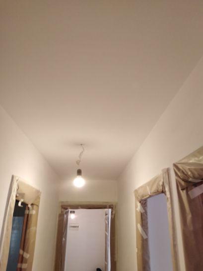 Lijado de techos y aplicado 1 mano de plastico sideral s-500 blanco (5)