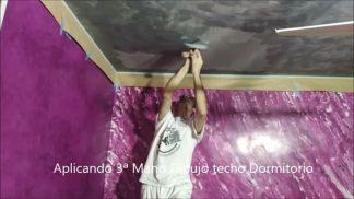 Aplicando 3ª Mano Dibujo techo dormitorio