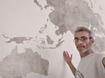 Colocacion de papel pintado mapa mundial (13)
