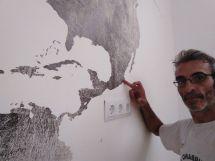 Colocacion de papel pintado mapa mundial (18)