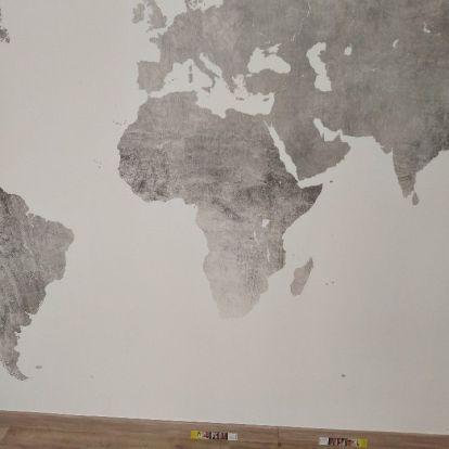 Colocacion de papel pintado mapa mundial (21)