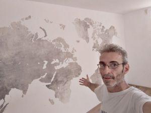 Colocacion de papel pintado mapa mundial (7)