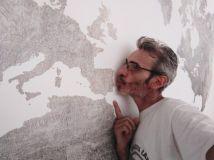 Colocacion de papel pintado mapa mundial (8)