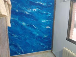 2 mano de Estuco Marmol Azul 1