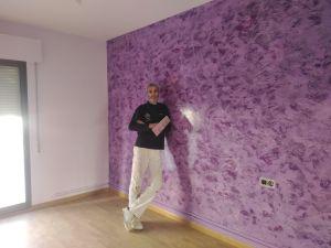 Estuco Cuarzo Amatista Morado Pinturas Urbano 5