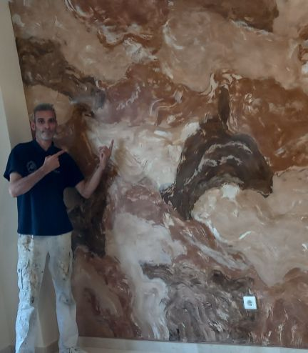 Estuco Marmol Piedra Marron 5 colores (9)