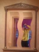 Moldura patina y espejo