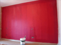 Aplicndo Esmalte pymacril color granate 5