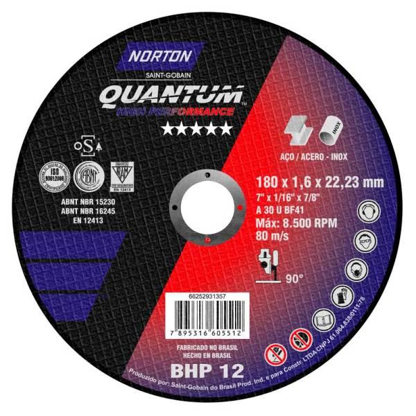 66252931357 D.CORTE T41 180x1.6x22.23 NOR Quantum BHP12 CJ25 61264