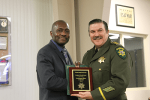 Pictured L to R: Correctional Sgt. Terrell Green and Sheriff John D'Agostini