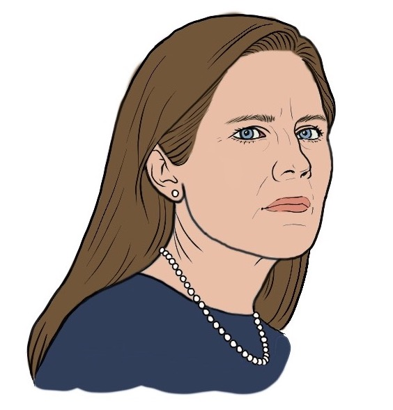 Illustration of Judge Amy Coney Barrett