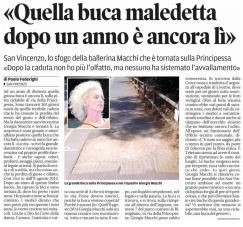 09 agosto: ciclabile San Vincenzo: buca
