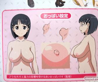 SAO桐ヶ谷直葉さんのオッパイ設定が垂れててだらしないwwwww