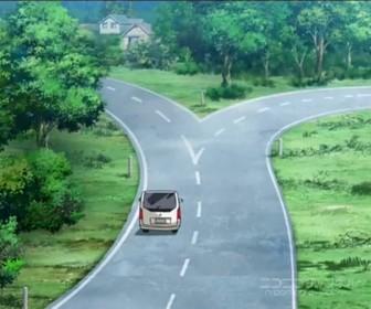 【悲報】このアニメの道路くっそワロタwwwww