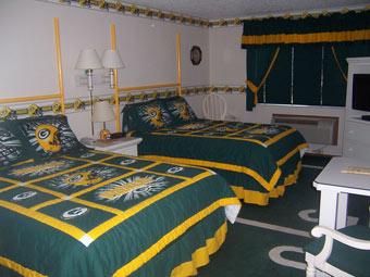 Green Bay Packers. 2 Queen Beds With Standard Amenities. PrevNext