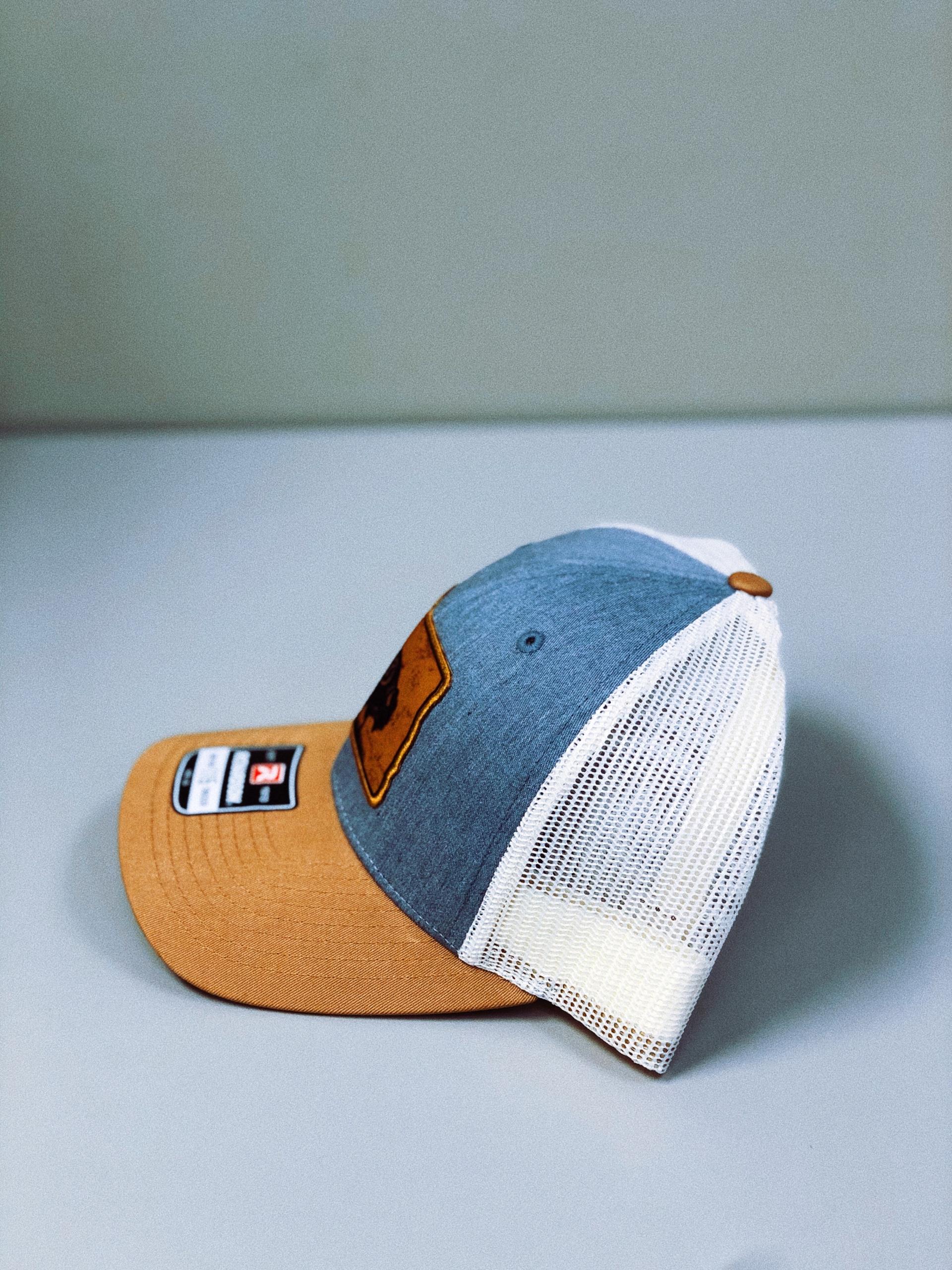 North Dakota Hat, Bison Side View