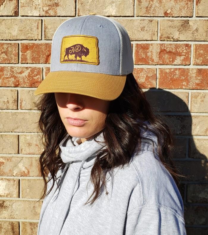 North Dakota Bison Hat Cap Ladies Model