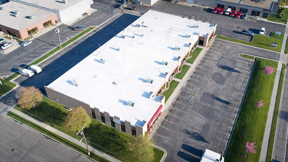 A New White Membrane Commercial Business Park Roofing Project