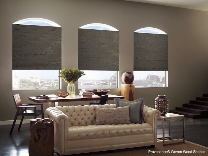 Provenance Woven Wood Shades Telluride Living Room