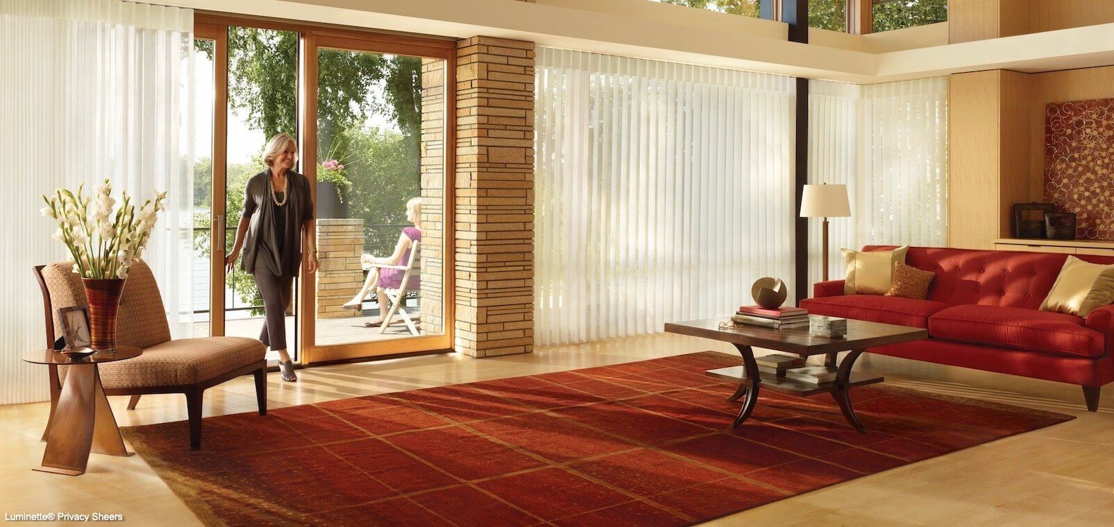 Luminette Privacy Sheers - Stria in Living Room