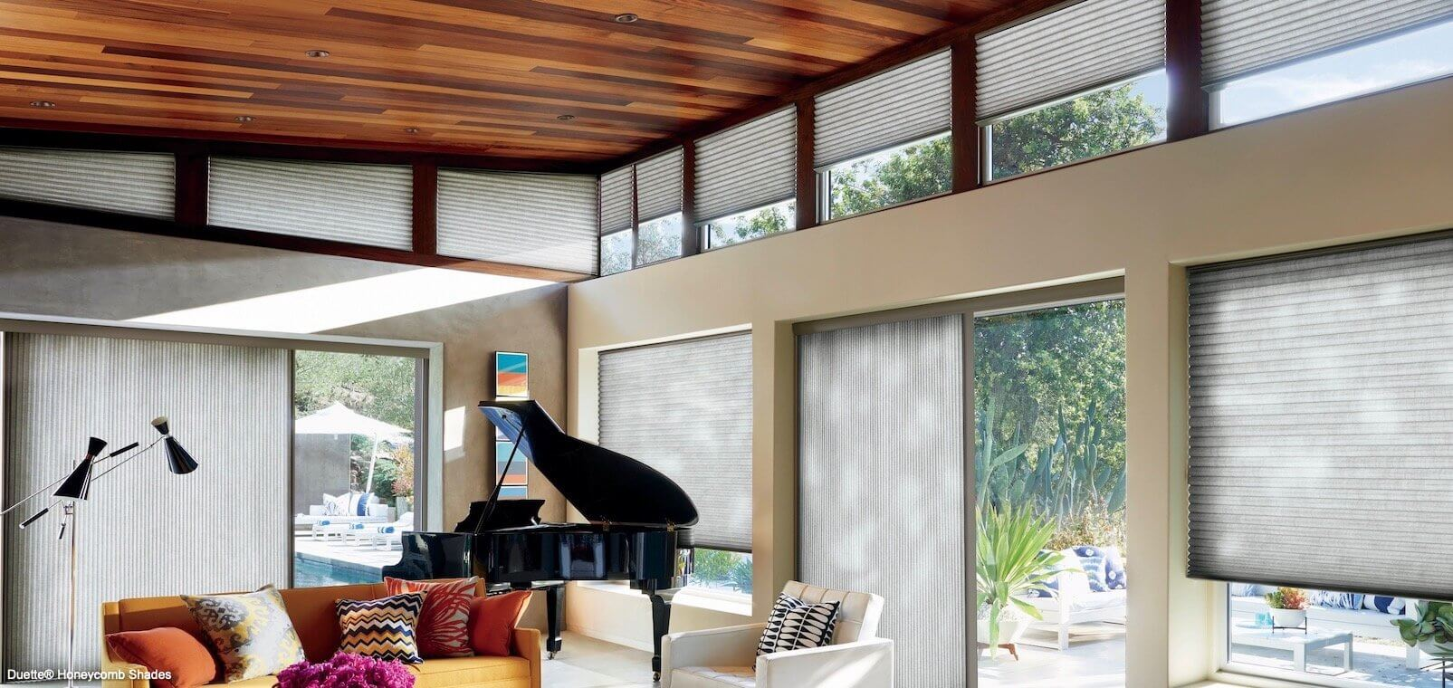 Duette Honeycomb Shades - PowerView- Trielle - Great Room