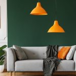 Light fixtures with an orange color