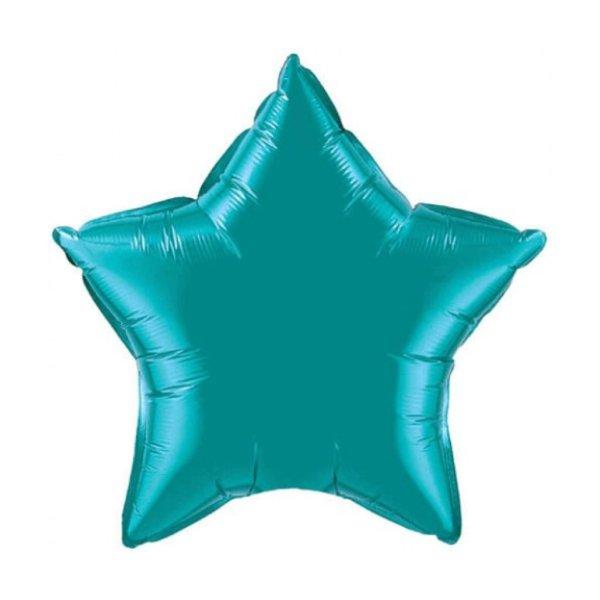 globo de estrella verde con helio