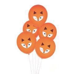 globos naranjas con zorros