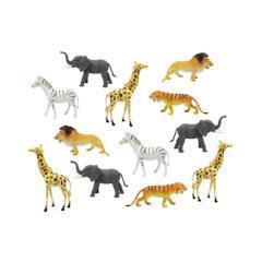 animales de la selva de plástico pequeños