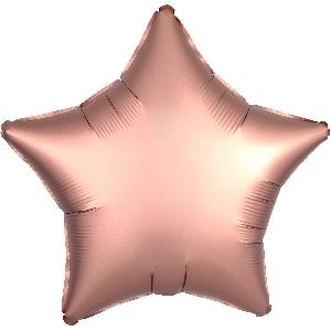 globo estrella pequeña oro rosa