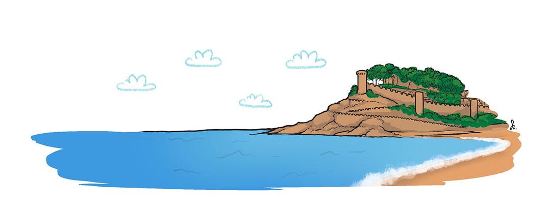 pipasdegirasol-ilustracion-tossa-de-mar-costa-brava-1080x413px