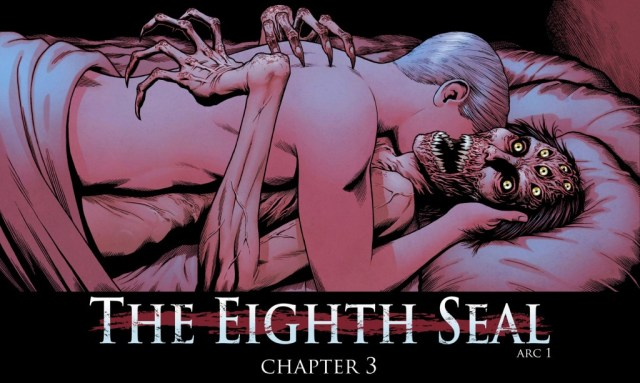 An exclusive first look at the horrifying new cover for The Eight Seal chapter 3!