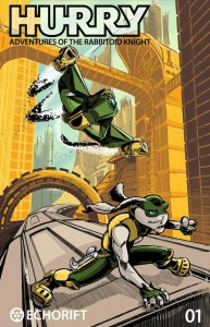 Hurry Adventures of the Rabbitoid Knight 01 cover