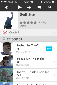 Golf Star Tapastic app
