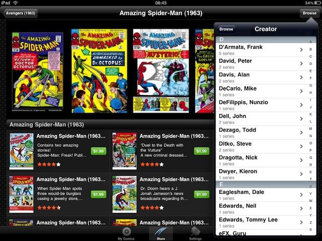 Marvel Comics app