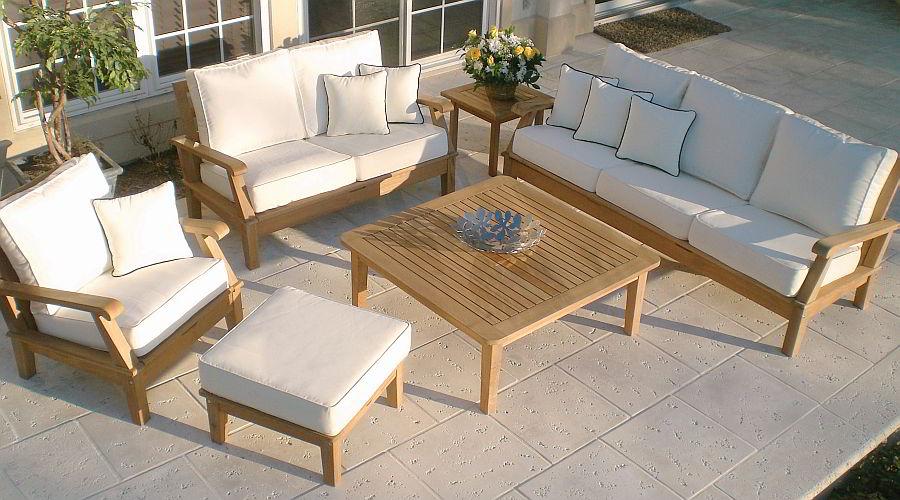 teak deep seating patio collection