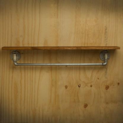 Lower Rail Plumbing Pipe Fitting Single Shelf