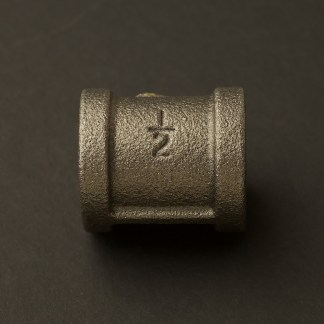 Half inch Black steel 15mm Coupler Fitting F&F