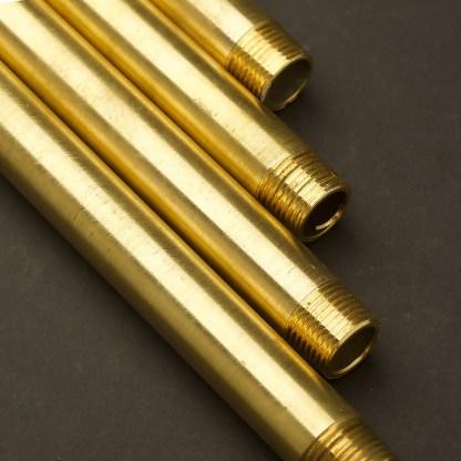 Half Inch Solid Brass 15mm threaded plumbing pipe M&M