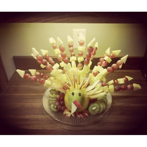 #fruitart #thanksgiving #bouquet #vegan #rt4 #fruiturkey