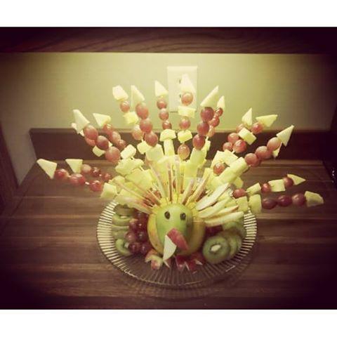 #fruitart #thanksgiving #bouquet #vegan #rt4 #fruiturkey