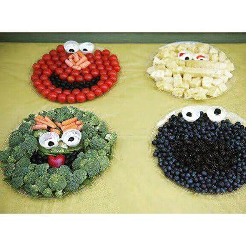 #fruitart #vegan #rt4 #sesamestreet #elmo #grouch #oscar #bigbird