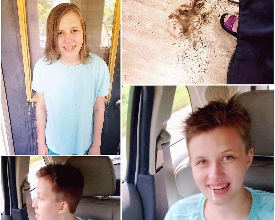 Alexis got a haircut