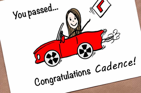 Cadence passed her permit test!