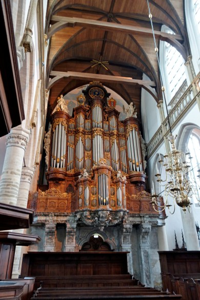 Oude Kerk organ, photo by Hans-Jörg Gemeinholzer