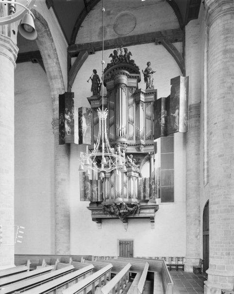 Middelburg organ, photo by G.J. Dukker