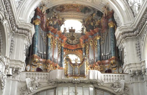 Waldsassen organ, photo by Peter Donhauser